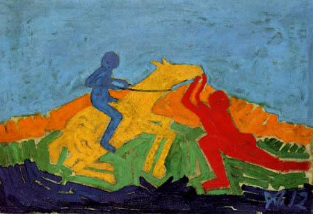Wilhelm Morgner - Zwei Reiter