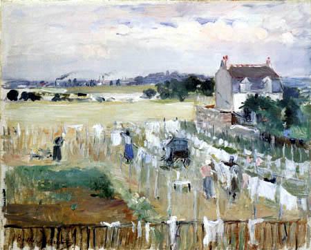Berthe Morisot - Wäsche auf der Leine