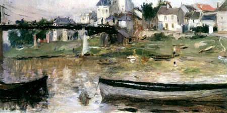 Berthe Morisot - Boats ashore of the Seine