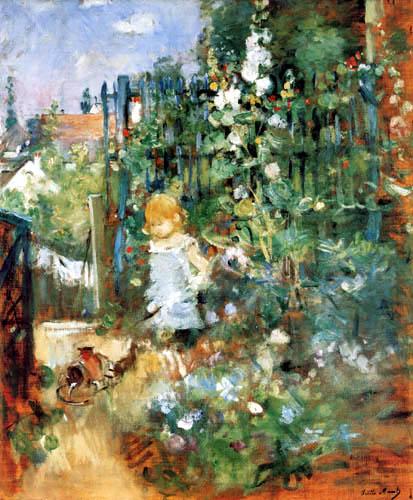 Berthe Morisot - Ein Kind spielt im Garten