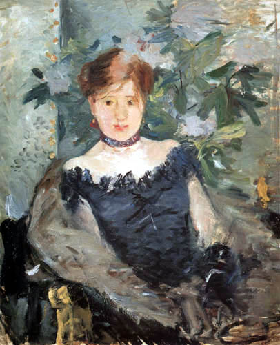 Berthe Morisot - The black evening gown