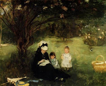 Berthe Morisot - Lilac in Maurecourt