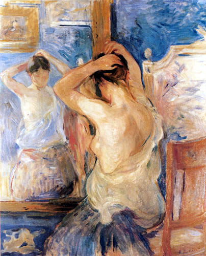 Berthe Morisot - The woman with the mirror