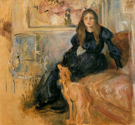 Berthe Morisot - Julie Manet with her greyhound