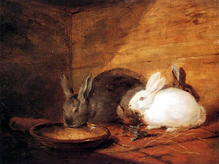George Morland - Three Rabbits