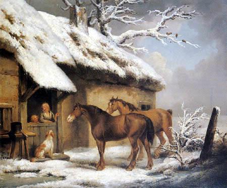 George Morland - Winter Scene