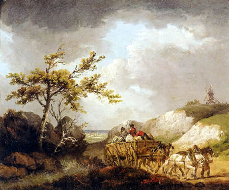 George Morland - The Baggage Wagon