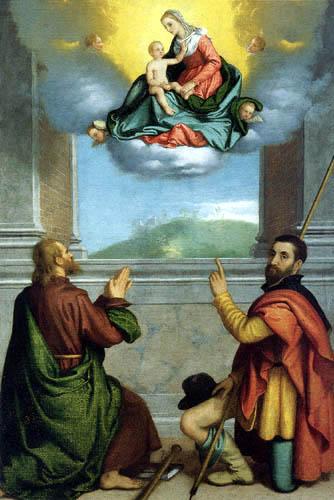 Giovanni Battista Moroni - Madonna and Child in Glory