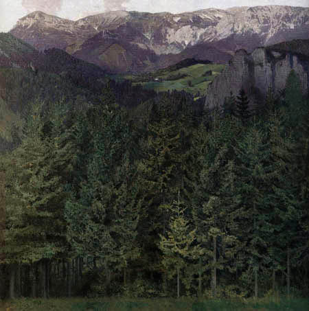 Koloman Moser - Blick zur Rax