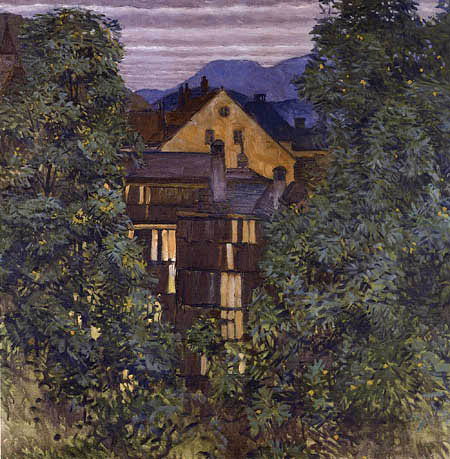 Koloman Moser - View of Payerbach, in the Background the Rax