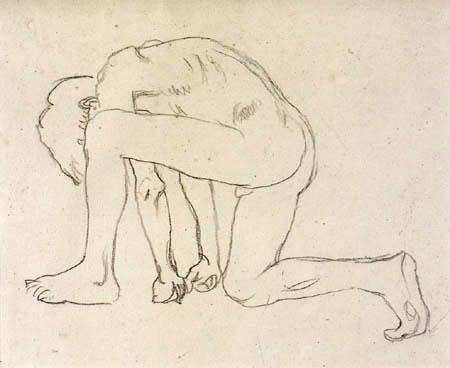 Koloman Moser - A young man kneeling