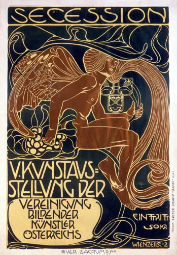 Koloman Moser - Poster for the exhibition of the V Viennese Secession