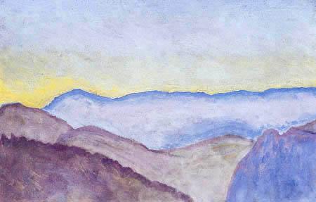 Koloman Moser - Landscape de Semmering with View of the Rax