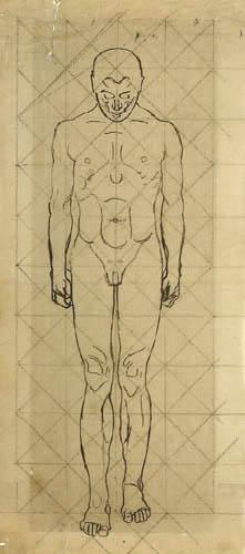 Koloman Moser - Skizze für Das Licht