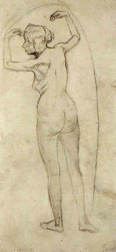 Koloman Moser - Venus in the Grotto, sketch