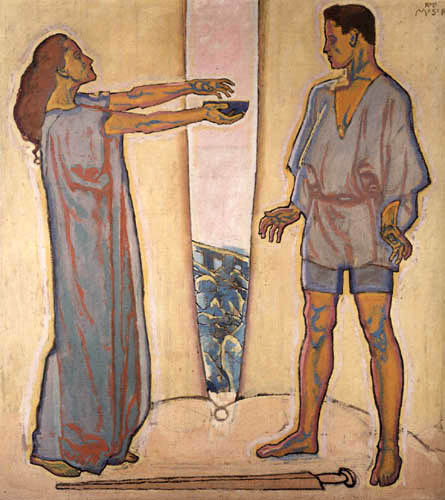 Koloman Moser - Tristan and Iseult, The Elixir of Love