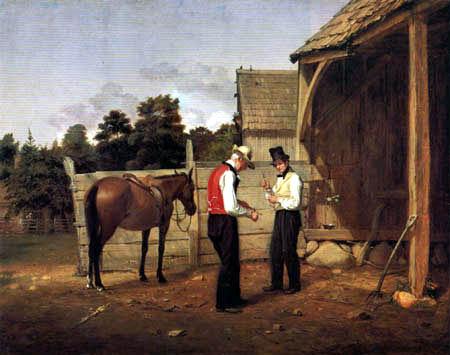 William Sidney Mount - Le commerce de cheval