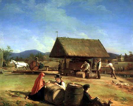 William Sidney Mount - Die Herstellung von Apfelwein