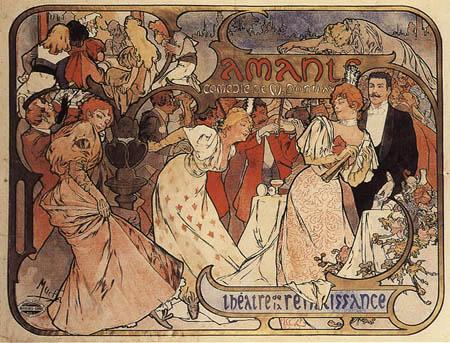 Alfons Maria Mucha - Amants