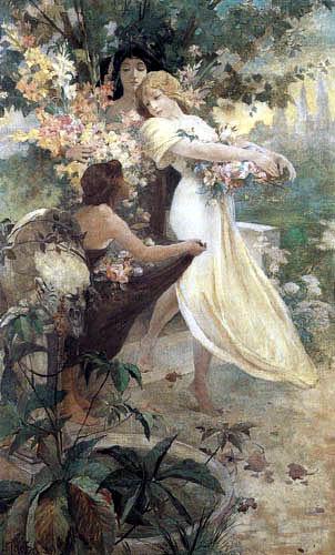 Alfons Maria Mucha - Flower