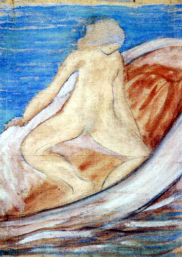 Otto Mueller - Woman in the boat