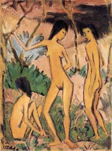Otto Mueller - Three women in landscape