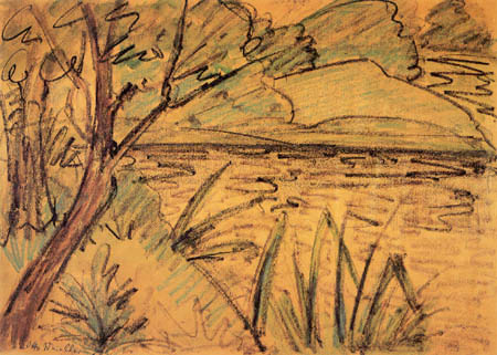 Otto Mueller - Landscape at the lake