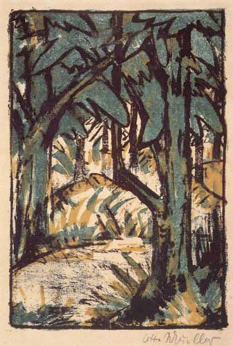 Otto Mueller - Forest landscape