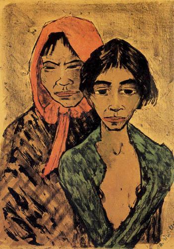 Otto Mueller - Two gypsies