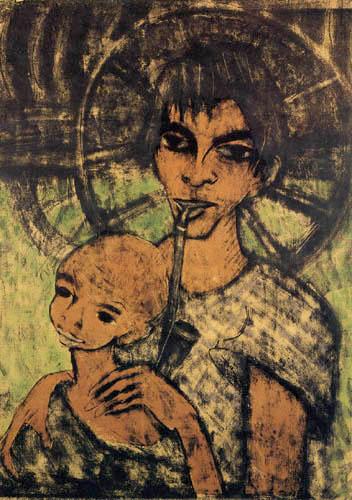 Otto Mueller - Gypsy Madonna