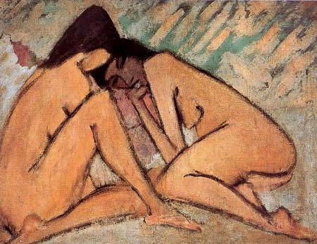 Otto Mueller - Two girls