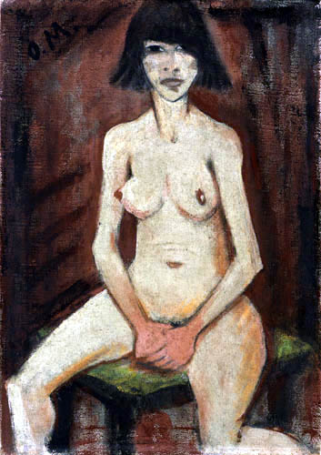 Otto Mueller - Sitzendes Mädchen