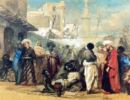 William James Muller - Slave market in Cairo