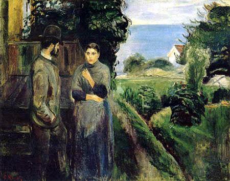 Edvard Munch - Conversation in the Evening