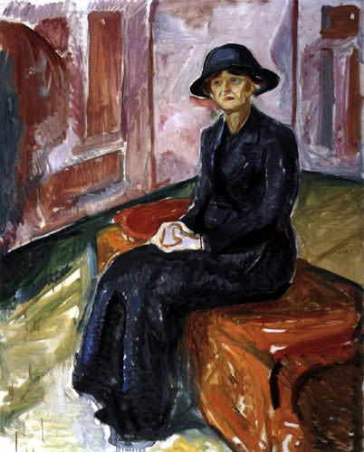 Edvard Munch - Woman sitting on a suitcase