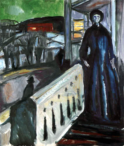 Edvard Munch - On the porch steps II, Ekely