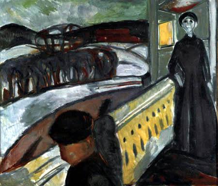 Edvard Munch - En las escaleras de la veranda I, Ekely