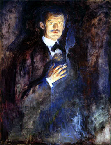 Edvard Munch - Self Portrait with Cigarette