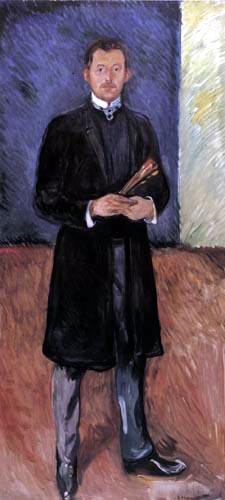Edvard Munch - Autoportrait avec des balais