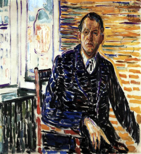 Edvard Munch - Self Portrait in the clinic of Professor Jacobson