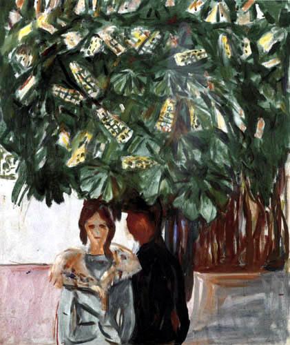 Edvard Munch - Begegnung unter der Kastanie I