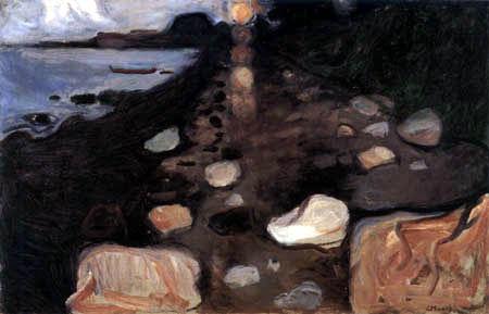 Edvard Munch - Moonlight over the sea