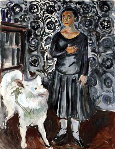 Edvard Munch - Lady with Dog