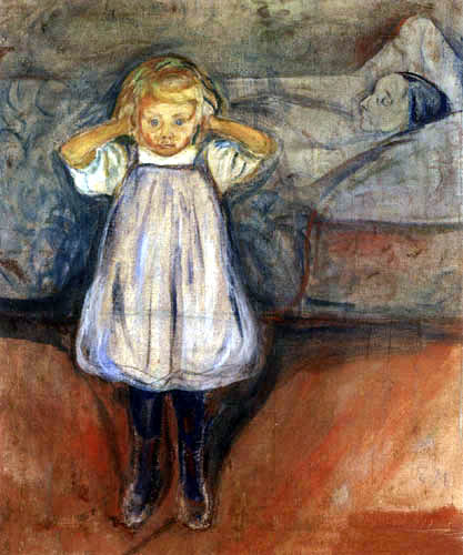 Edvard Munch - The child and the death