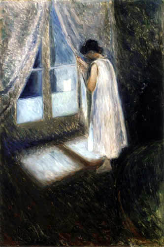 Edvard Munch -  The girl at the window