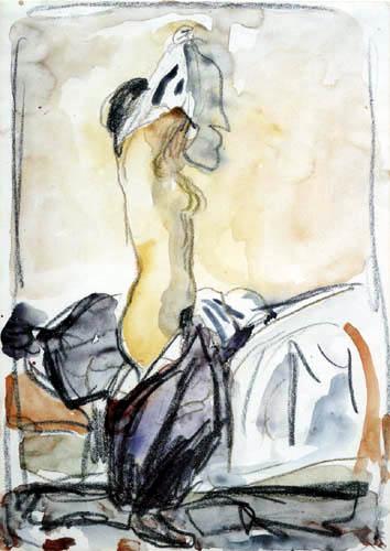 Edvard Munch - Das Modell zieht sich aus I