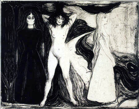 Edvard Munch - Das Weib, Sphinx