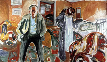 Edvard Munch - The artist and his model III