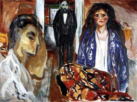 Edvard Munch - L'artiste et son modèle, Jalousie