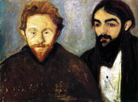Edvard Munch - Le peintre Paul Hermann et le médecin Paul Contard